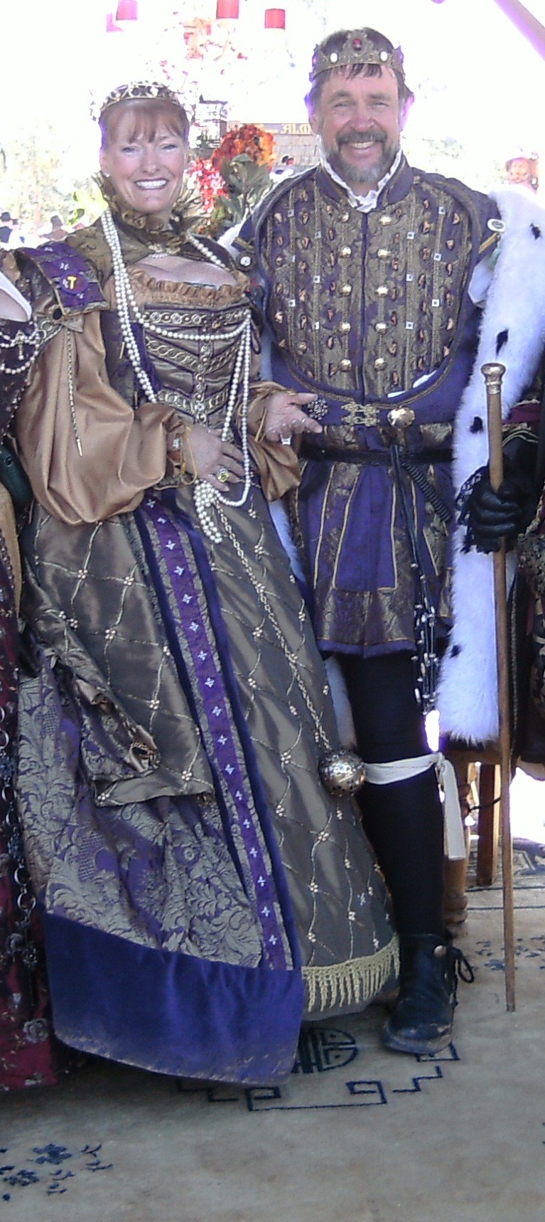 Silver and purple renaissance king and queen garb