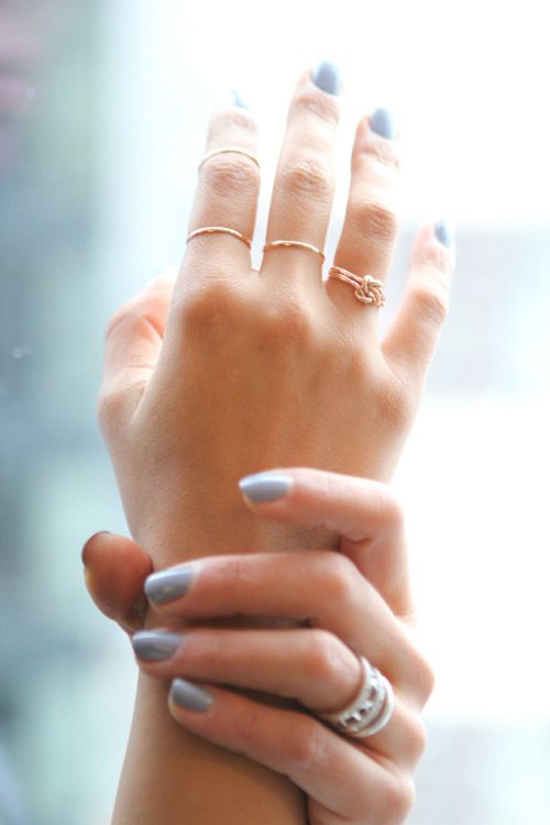 mollygolly:  I want every single one of those rings  Ditto (and that nail polish!)