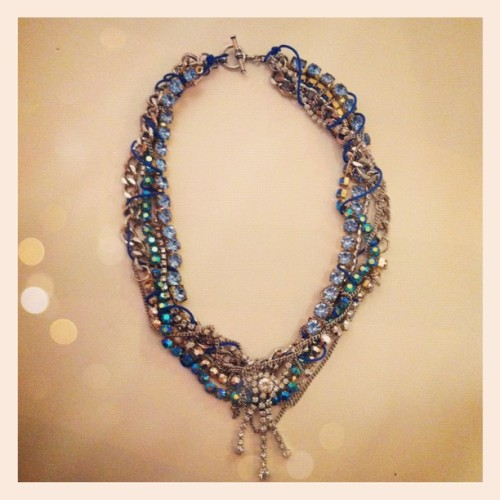 About an hour ago Lauren Elan gave us a sneak peak of one of her necklaces from her Spring/Summer 2012 collection. My mouth dropped open when I saw this statement necklace.. it is downright beautiful. The combination of jewels, chains, and colours is perfect. I will definitely be waiting to see how much this piece will be sold for, I would love to own it! Well done Lauren Elan, your work never ceases to amaze me. xo