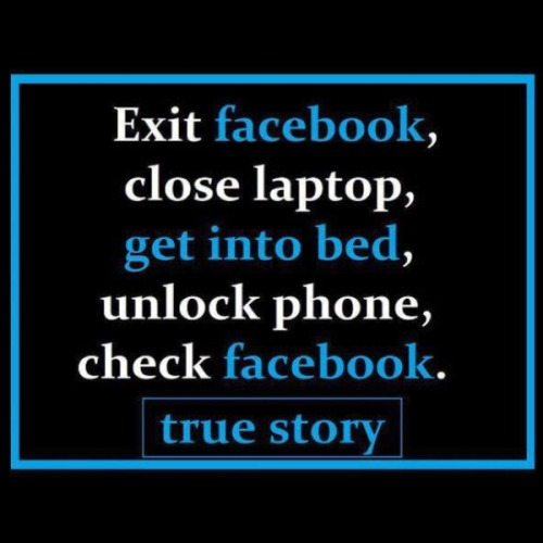 I cant use Facebook on my phone…First world problems…