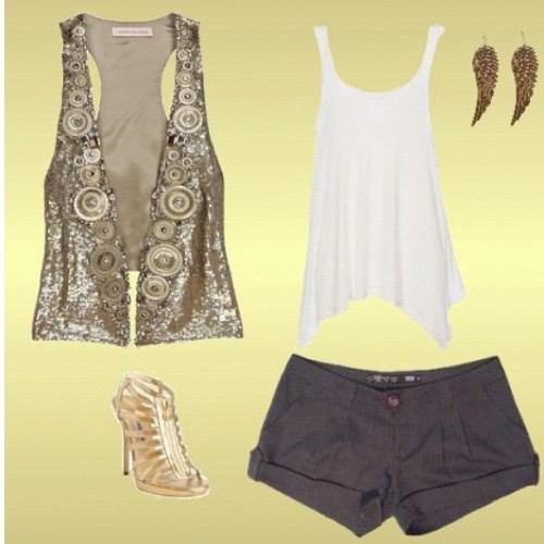 #shorts #tank #vest #heels #pumps #shoes #outfit #accessories #fashion #cute #weheartit  (Taken with instagram)