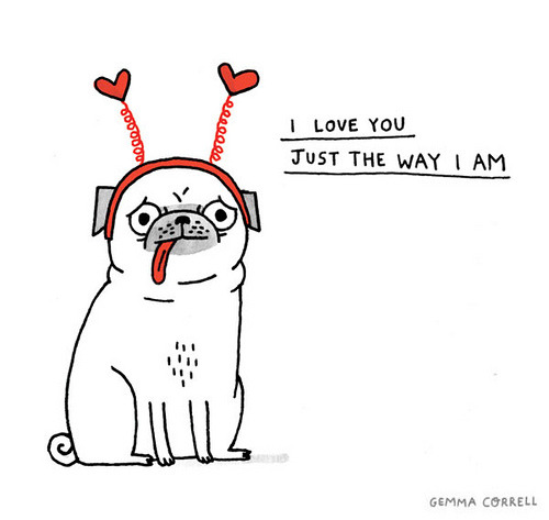 archiemcphee:  Please enjoy another awesome pug illustration by the wonderful Gemma Correll.