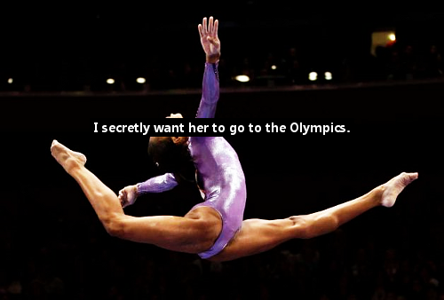 i OPENLY want her to go to the Olympics! Gabby for 2012!