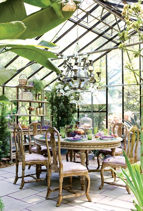 belleatelier:  Green house dining