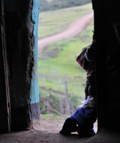 Taken from inside a mud hut in a village near where the Bulungula River empties into the Indian Ocean.