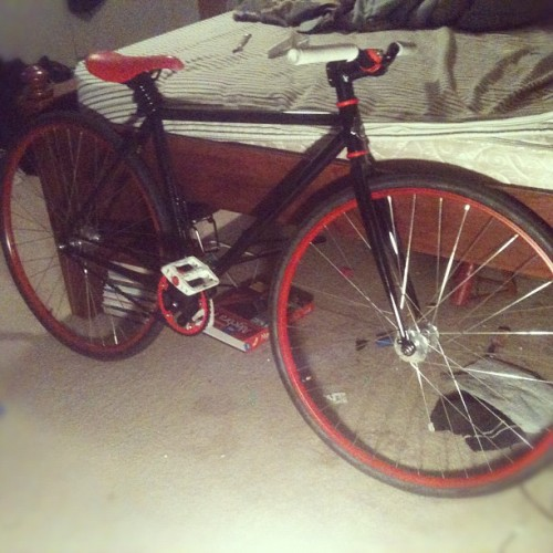 My FIXIE painted the rims (Taken with instagram)