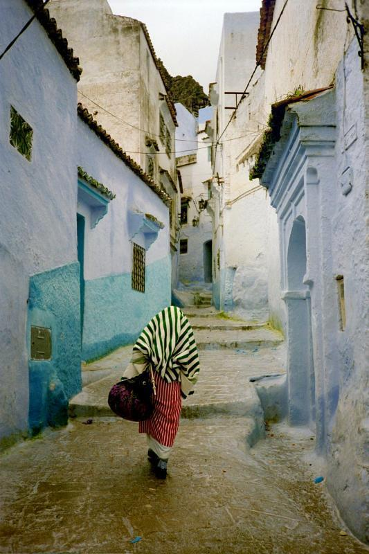 | ♕ |  The Blue Labyrinth - Chefchaouen, Morocco  | via pixdaus
