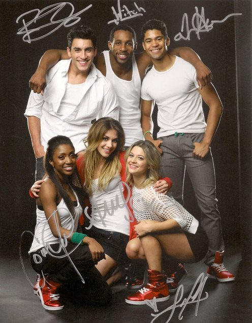 "sytycd9:  Heyday Footwear Campaign with the SYTYCD All Stars.  Comfort Fedoke (S4), Robert Roldan (S7), Allison Holker (S2), Stephen ""tWitch"" Boss (S4), Lauren Froderman (S7), and Jason Glover (S5)."