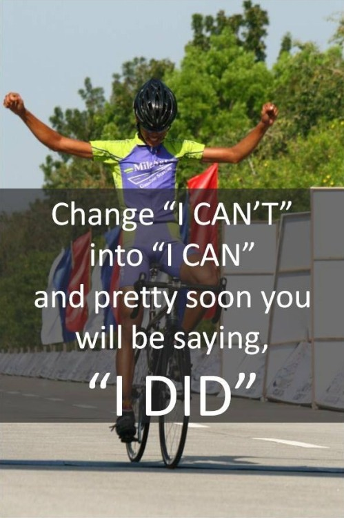 "Change ""I CAN'T"" into ""I CAN"", and pretty soon you will be saying, ""I DID""! Like these kinds of posts? Find more at http://Facebook.com/ImmuvitPH"