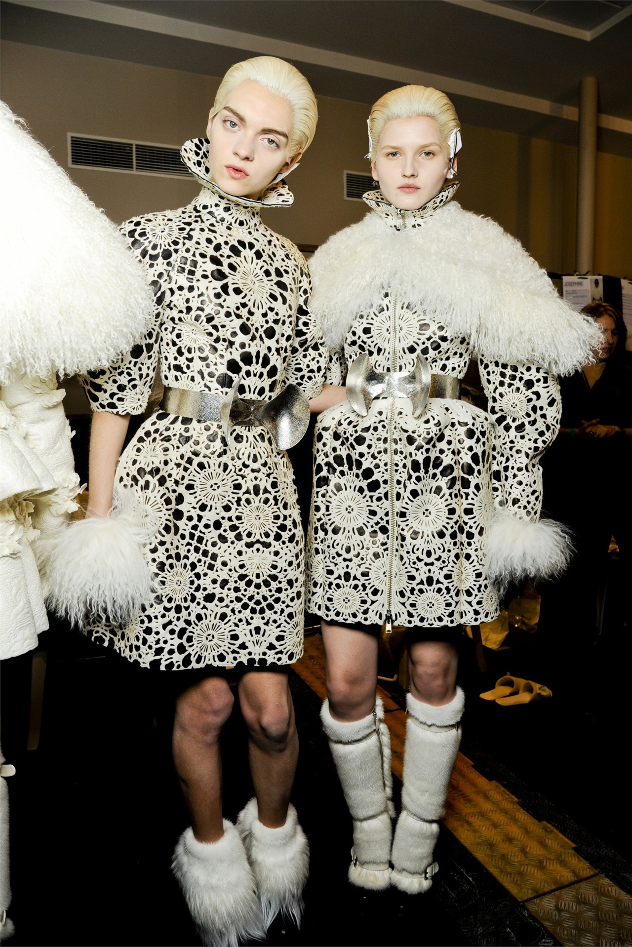 Magda and Kaitlin backstage at Alexander McQueen fw12.