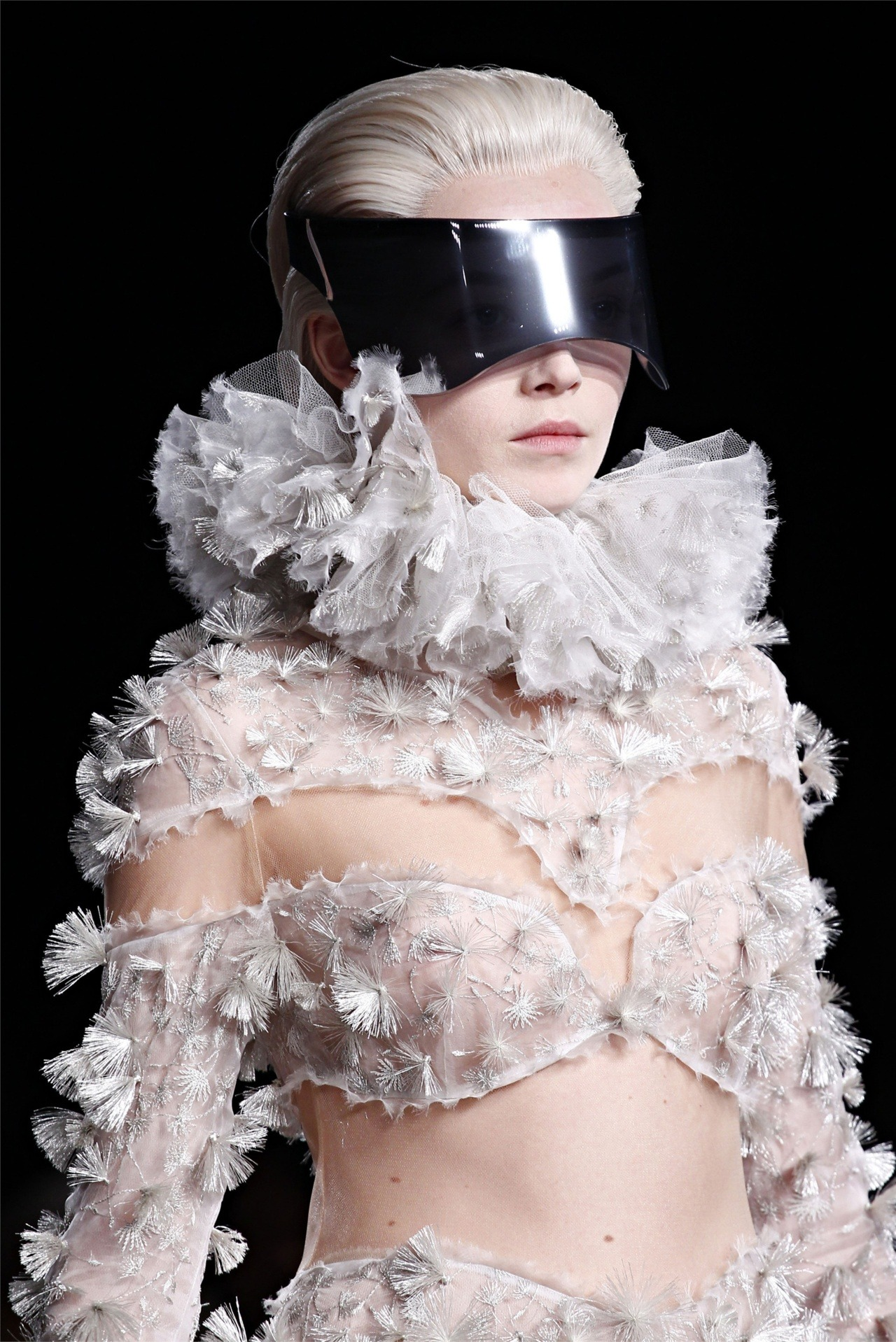Details: Siri Tollerod in the breathtaking Alexander McQueen fw12 show.