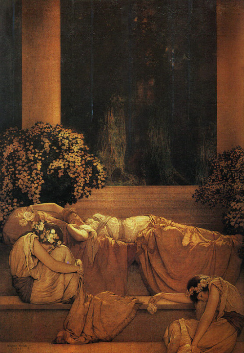 cavetocanvas:  Maxfield Parrish, Sleeping Beauty, 1912