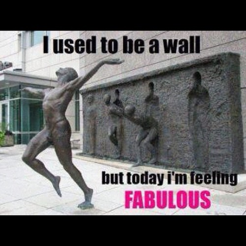 spencershatteringserenity:  #fabulous #wall #art #pretty #funny #statue (Taken with instagram)
