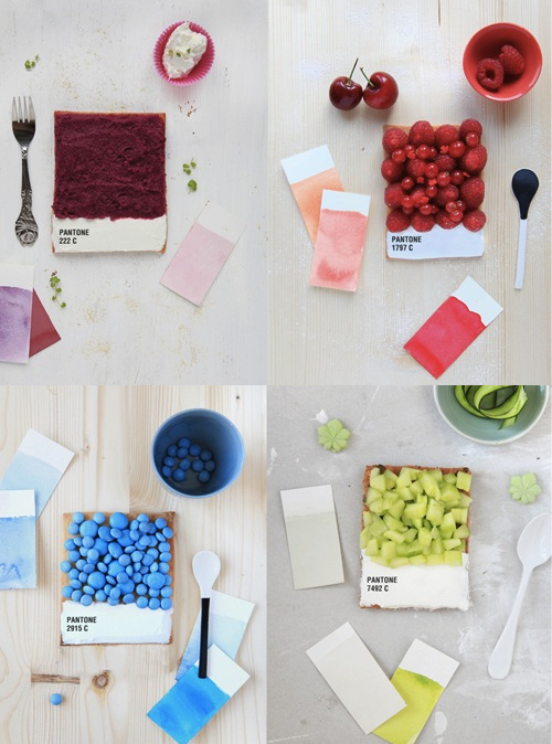 Food art of the day: Pantone tarts   Choose your color - palette culinaire by Emilie Guelpa  (via szymon)
