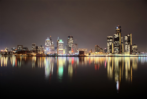 Detroit skyline: one of my favorite sights in the world. … I just with I didn't always get lost alone in the ghetto.