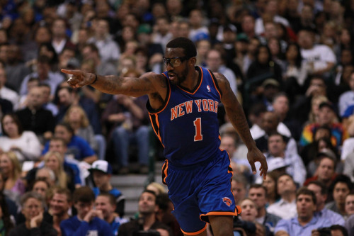 Amare Stoudemire, New York Knicks (March 6, 2012) Fierce face following the Assist of the Night (video) [Image Source: Yahoo! Sports; Photographer: Ronald Martinez/Getty Images]