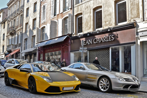 LP640 & SLR McLaren by Alexandre Prévot on Flickr.