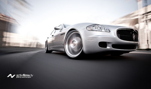 Maserati Quattroporte through Palladios by Trevor Thompson on Flickr.