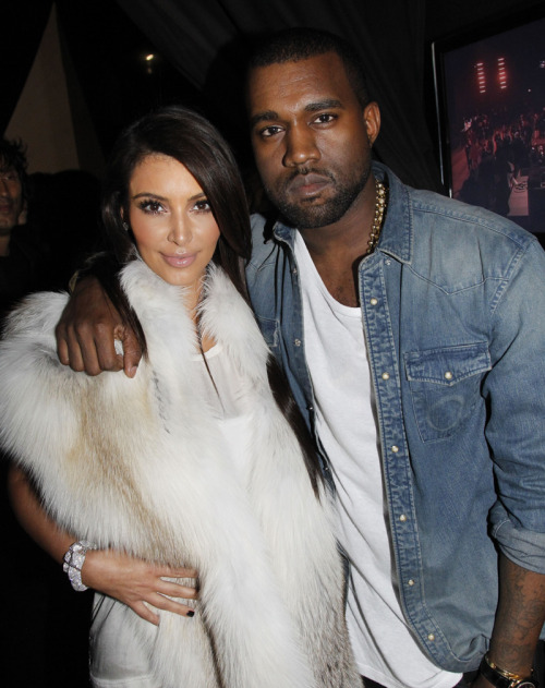 Kim Kardashian Attend Kanye West Fall/Winter 2012 show.