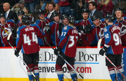 Why can't I go to games like that? The Avs have been outscored 9-1 in the three games I've been to this season (3-0 against Detroit in the home opener, 4-1 against Winnipeg, 2-0 in that awful display against Columbus last week) and 18-2 going back to the last game I went to last season (the 9-1 Calgary game). Da fuck? Anyway, go Avs!