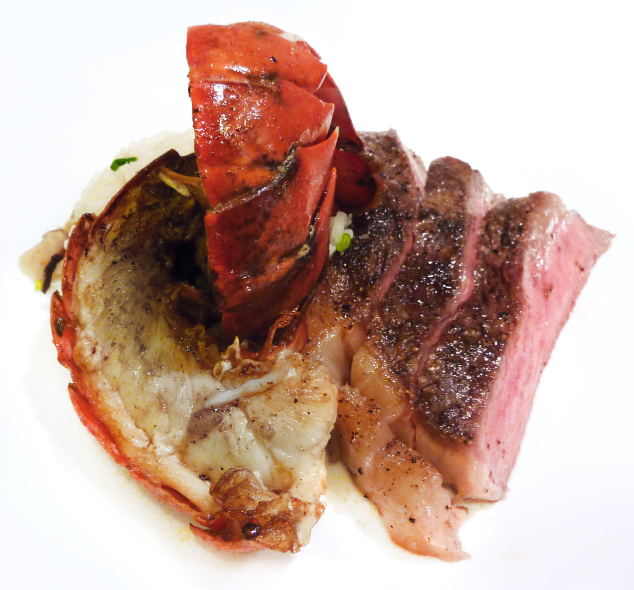 sous-vide steak & lobsterwith truffled matsutake riceA random combination of stuff I had in the fridge-rator.