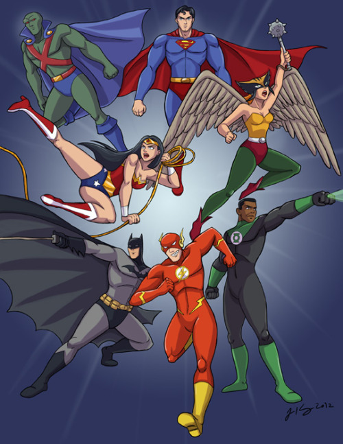 Justice League by jeandrawsstuff