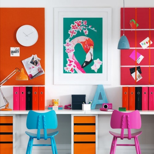 homedesigning:   Colorful Home Office Design Ideas