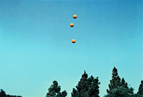 John Baldessari Throwing Three Balls in the Air to Get a Straight Line (Best of Thirty-Six Attempts)  1973