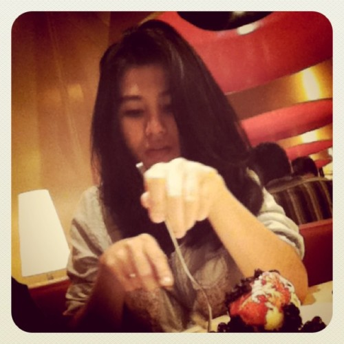 @haylenasyaugi #pancake #love #ig #igers #instadaily #instagram #iphonesia #instagood #instaphoto #popular #blueberry (Taken with Instagram at Pancious Mal Taman Anggrek)