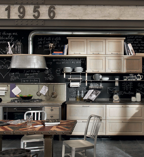 older-and-far-away:  micasaessucasa:  Vintage Style Kitchens by Marchi Group - 1956 and Loft  I want this kitchen.  I mean, my entire apartment would probably fit inside it, but none the less….