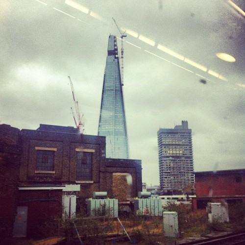 The Shard (from the train) (Taken with instagram)