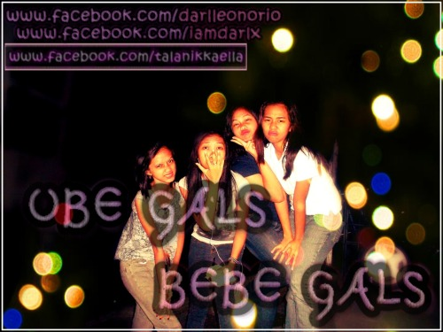 We Love You Ube! (: L-R:  Bebe Joiz, Bebe Niks, Bebe Mayz, and Bebe Darls ☺
