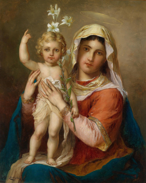 crystilogic:  Madonna with Child by Hans Zatzka (c. 1907[?])