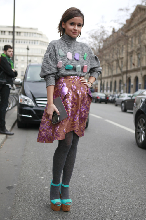 #PFW comes to a close today, but the dedicated fashionistas are still out in force. The last day sees a few of the greats; Louis Vuitton and Miu Miu on stage. WGSN street style, Paris Fashion Week