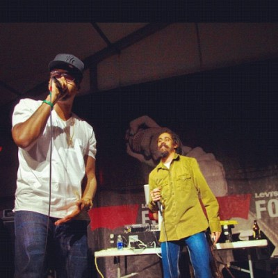 #fortflashback @nas @damianmarley (shot by @scratchex) (Taken with Instagram at Austin, TX)