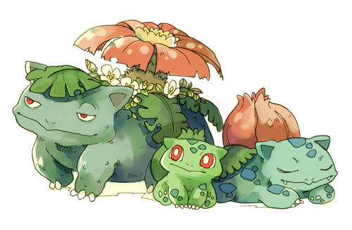 That is one happy-looking Bulbasaur.