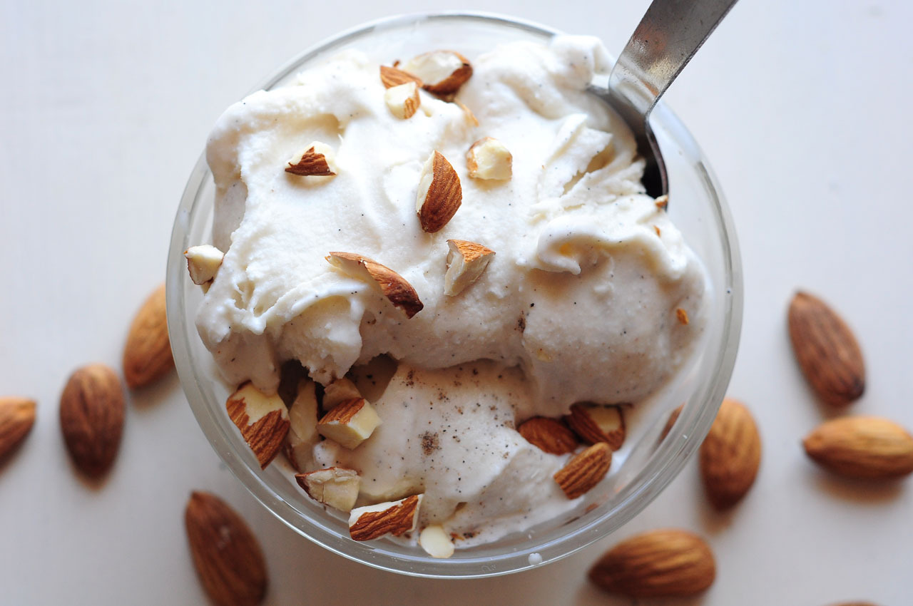 milkmade flavor of the day: Cardamalmondcardamom ice cream with chunks of crunchy almond Love how fragrant cardamom is even when it's frozen.