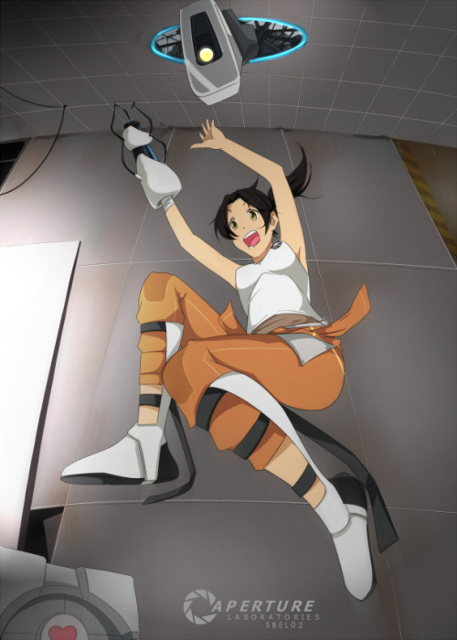 totachaos:  Our dear Chell is master of the Portal-gun!