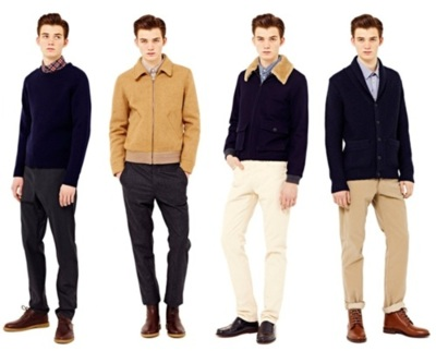 A.P.C. 2012 Fall Collection Drawing substantial inspiration from the immediate surroundings of its Rue des Saints-Pères showroom, A.P.C.'s latest Fall 2012 collection ventures into an English hunting-inspired realm to augment its seasonally consistent menswear garb. While never shying away from its well-tailored aesthetic, the collection sees subtle, yet tastefully slouched trousers and flannels shirts that provide a degree of wearable and balanced casualness. A gum-soled footwear range is included that perfectly outfits a range of knitwear, some of which is curated thanks to Harris Tweed sourcing and textile construction. It's a 1960s French cinema-infused collection of tailored fits, color palettes and garments.