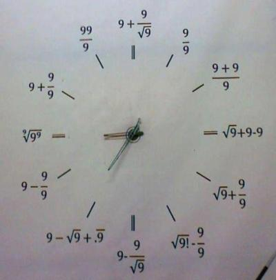 coolest mathematics clock ever