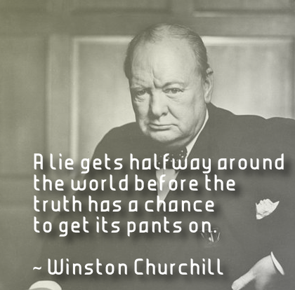 Winston Churchill had it right when he said this.
