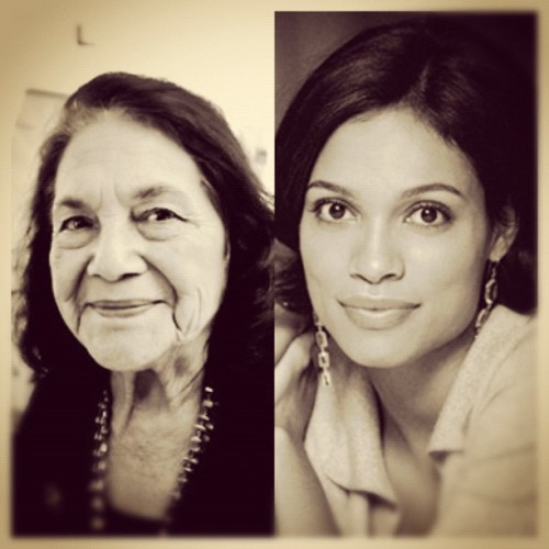 "So excited to share this, the boss lady will be playing Dolores Huerta in the new movie ""Chavez"" with Micahel Peña and America Ferrera! #TrueStory #CesarChavez #UFW  (Taken with instagram)"