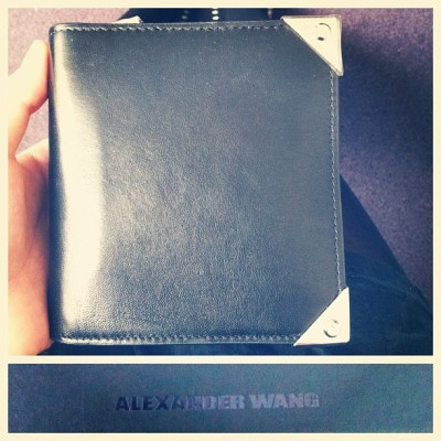 my first grown up wallet. thanks to my forever favorite, h (he got tired of watching me struggle with my older than old rugby card slip)!!
