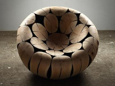 Nice Pine and Chestnut Chair by Lee Jae-Hyo