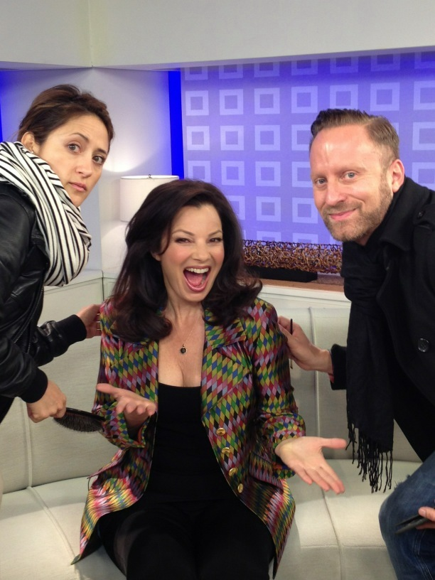 ilovefrandrescherr10:  Fran Drescher with her amazing design team (: Gregory Arlt, and Brenda Cooper!  we love this  HELL YES FRAN DRESCHER