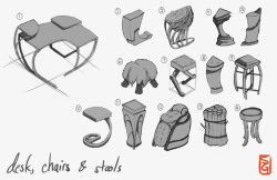 Just drawings of props. http://samgauss.blogspot.com/