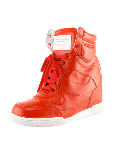 teenvogue:  Pump up your spring look with a pair of on-trend sneaker wedges, like these bright red kicks from Marc by Marc Jacobs. Check out more top picks here » marcjacobs.com