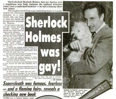 ihavebeensherlocked:   Apr 26, 1988. Vol. 9, Issue 29.  oh my god it sounds like an article written by Rita Skeeter.  wow, this article is depressing on so many levels. It's one thing to disagree, it's another to call him 'a pipe-smoking sissy' or a 'flaming Sherlock homo'. Chriiiist. Well, at least it shows how far journalism has advanced from that kind of bullshit - where was this published, the Sun? The Daily Mail? Haha, god.