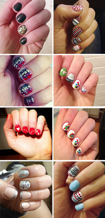 modcloth:  Veronica of Tick Tock Vintage is a nail art master.