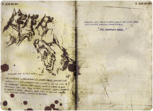 Some scans of Soap's Journal, a little pamphlet included in the Hardened Edition of Modern Warfare 3. Thanks to unmitigatedfabrication for giving this to us!  DOWNLOAD IT HERE - Tyson | RR